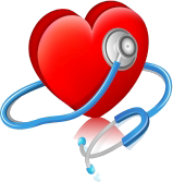 Heart graphic with stethescope around it