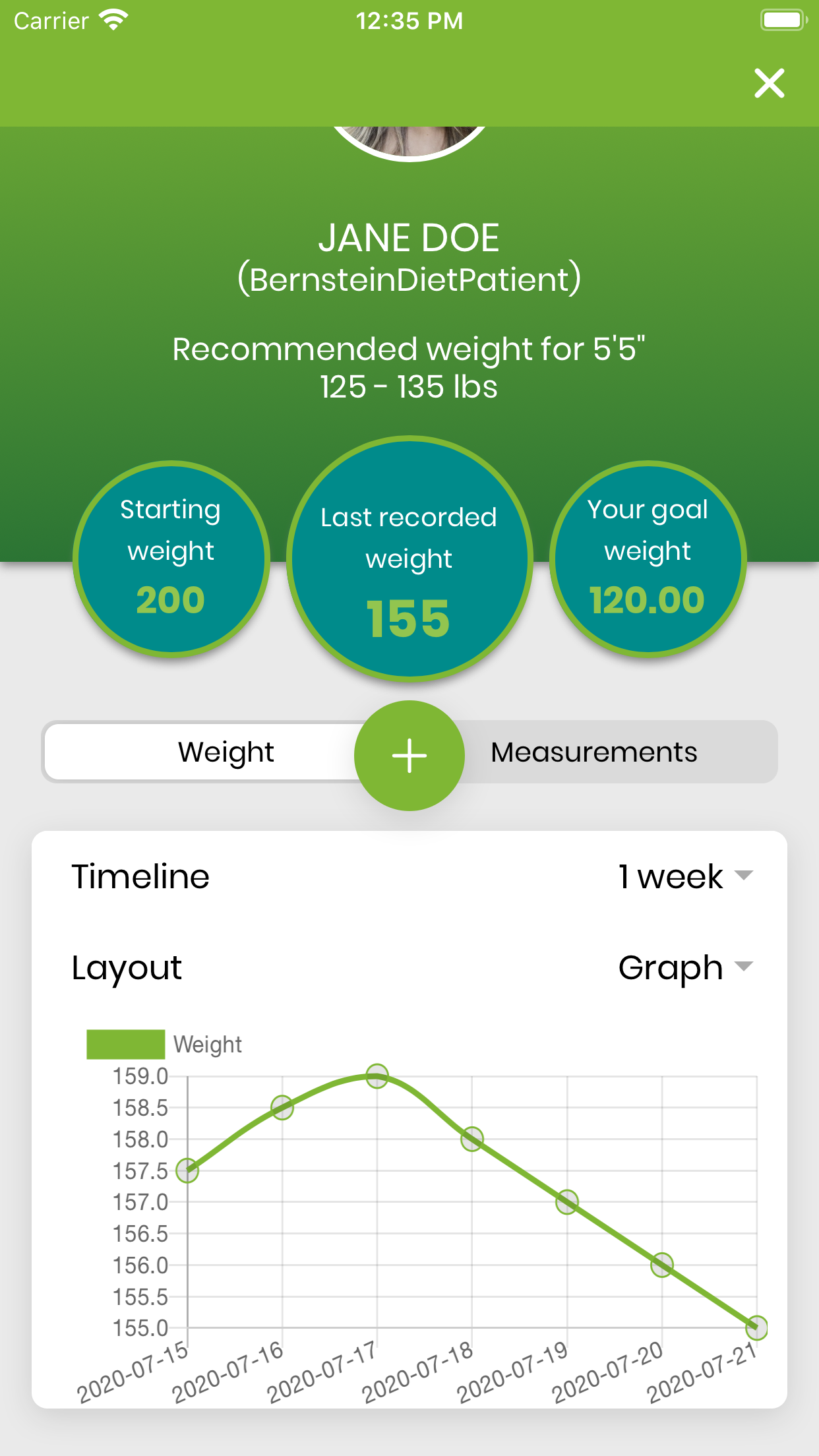 Get the Bernstein Diet App   weighttracker